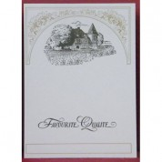 Wine Label Vertical Cream Chateau Qty 25