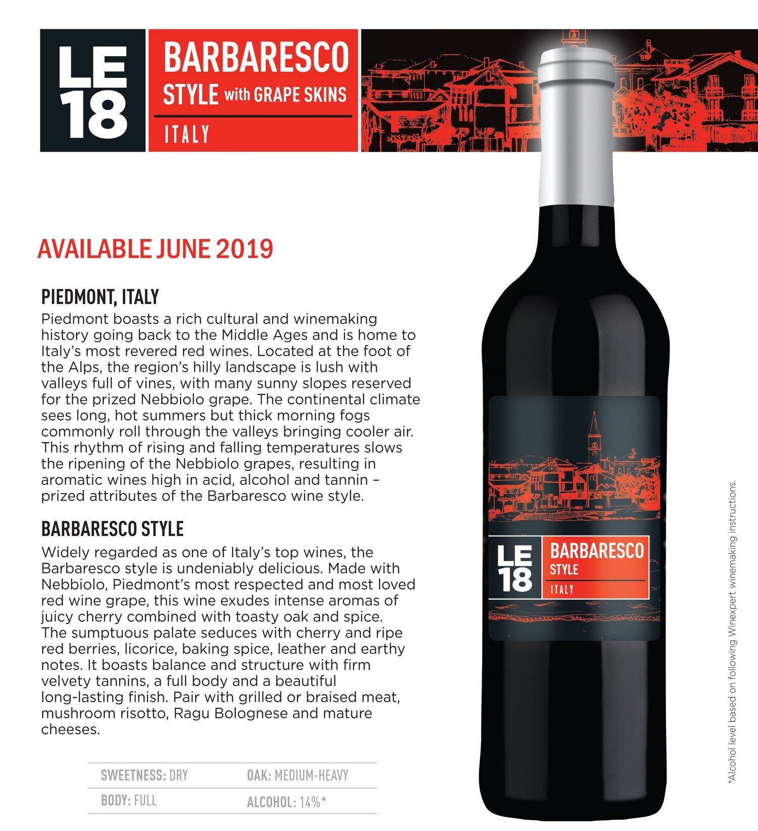 Limited Editions 18 Barbaresco Style Italy